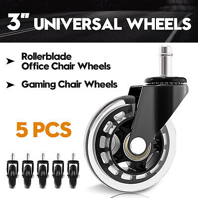 AU27.90 • Buy 3  Swivel Casters Wheels Rollerblades Office Gaming Chair Wheel Replacement 5pcs