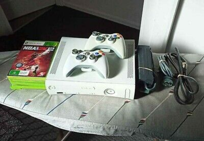AU94 • Buy Xbox 360 + 2 Controllers Games & Cables
