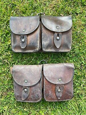 £34.95 • Buy Ww2 French Ammo Pouches Leather X Two Original