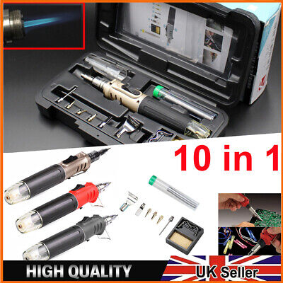 £17.59 • Buy Professional Soldering Iron Kit Gas Butane Cordless Auto Ignition Welding Torch