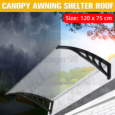 £30.95 • Buy Door Canopy Awning Shelter Outdoor Porch Patio Front Back Window Roof Rain Cover