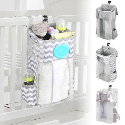 £14.59 • Buy Baby Nursery Organizer And Crib Bed Diaper Pocket Hanging Bag For Infant Storage