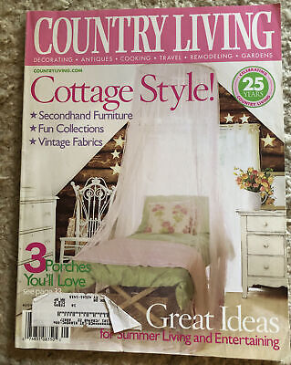 £3.65 • Buy Country Living Magazine - August 2003 - Cottage Style / Secondhand Furniture