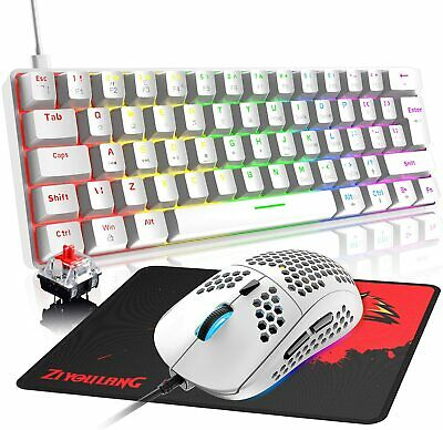 AU63.79 • Buy 60% Mechanical Gaming Keyboard Mouse And Mat Combo Wired RGB Backlit For PC PS4
