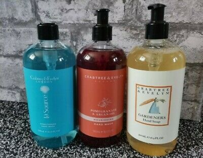 £39.99 • Buy Crabtree And Evelyn Hand Wash La Source * Gardeners * Pomegranate * 3 X 500ml
