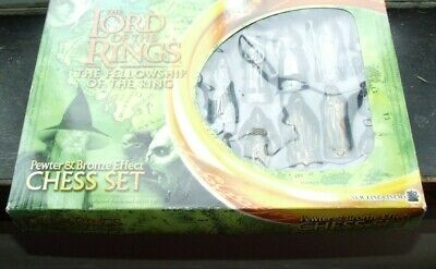 £30 • Buy Lord Of The Rings Fellowship Of The Ring Pewter And Bronze EFFECT Chess Set 2001