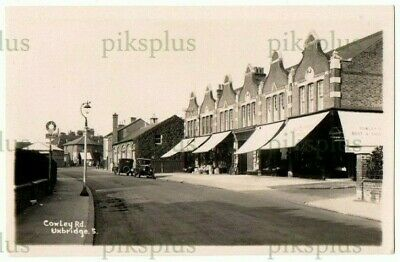 £26 • Buy Old Postcard Cowley Road Shops Uxbridge Middlesex Real Photo Vintage 1930s