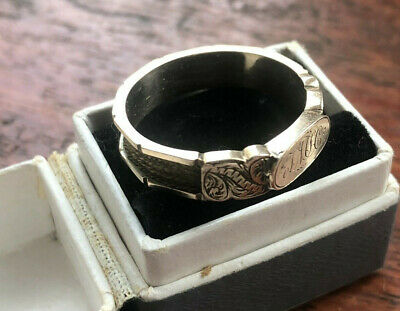 £195 • Buy Antique Georgian/VICTORIAN 9ct Gold Plaited FULL BAND Hair Mourning Ring UK-Q