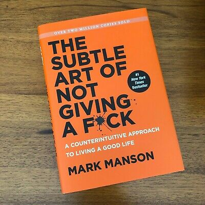 AU20 • Buy The Subtle Art Of Not Giving A Fuck Fck F*ck Fk Hardcover Book By Mark Manson