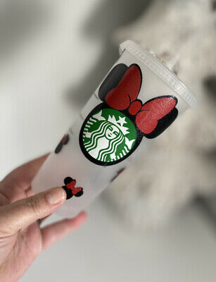 £12.50 • Buy Starbucks Personalised Minnie Mouse Cold Cup Frosted Reusable 24oz With Straw
