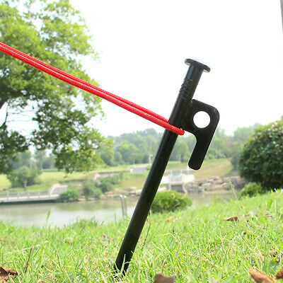 AU22.99 • Buy 10Pcs Heavy Duty Carbon Steel Metal Tent Canopy Camping Stakes Peg Ground Nail