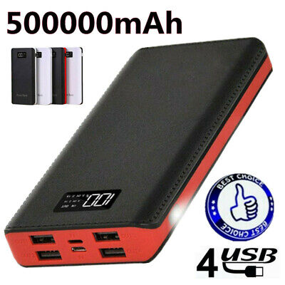AU26.99 • Buy Portable LCD 500000mAh Power Bank Pack Charger 4 USB Fast Battery For Phone AU