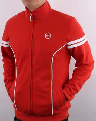 £45 • Buy Sergio Tacchini Fjord Track Top In Red - Retro Tracksuit Jacket, 80s Casual