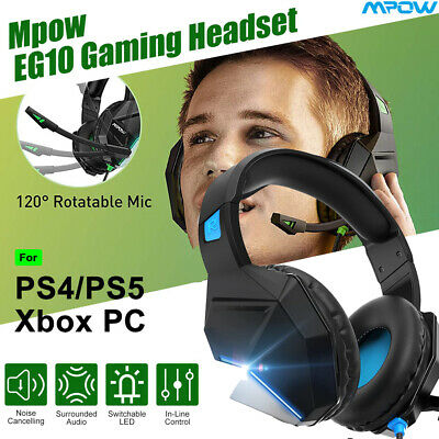 AU32.19 • Buy Mpow Gaming Headset 3.5mm Surround Sound Headphones +Mic For PC PS5 PS4 Xbox One