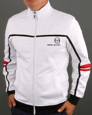 £65 • Buy Sergio Tacchini Frankie Track Top In White - Retro Tracksuit Jacket 80s Casual