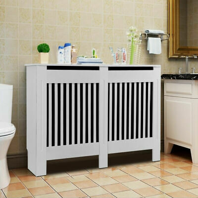 £30.94 • Buy High Gloss Radiator Cover Wood Frame Cabinet Stand Vents Shelf Bedroom Hallway