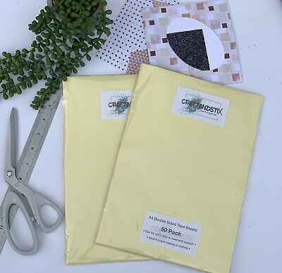 £12.50 • Buy 50 X A4 Double Sided Adhesive Tape Sheets, Clear, Card Making Etc.