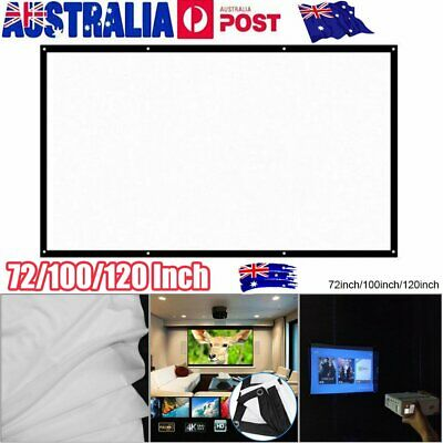 AU18.90 • Buy 120  Foldable Projector Screen Portable Outdoor Home Movie Cinema 16:9 HD 1080P~