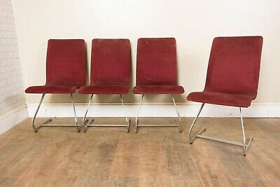 £600 • Buy Vintage Retro Set Of 4 Chrome And Fabric Dining Chairs By Merrow Associates