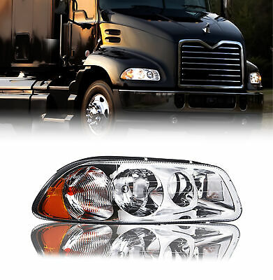 $101.08 • Buy Mack Vision 2007-2011 Right Passenger Side Clear Lens Headlight With All Bulbs