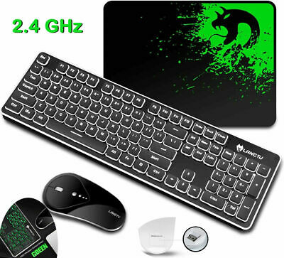 AU54.89 • Buy Wireless Gaming Keyboard And Mouse Set Backlit Rechargeable For PC/Laptop/Mac AU