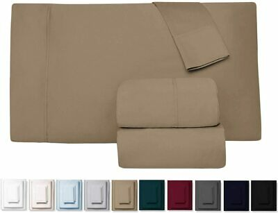 AU35.64 • Buy 1800TC Ultra Soft Flat & Fitted Sheet Set Double/Queen/King/Super King Size Bed