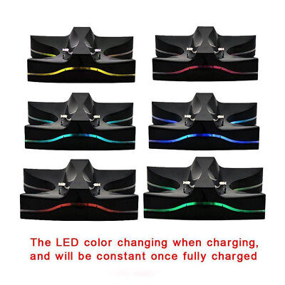 AU9.99 • Buy Dual Controller LED Charger Dock Station USB Fast Charging For PlayStation 4 PS4