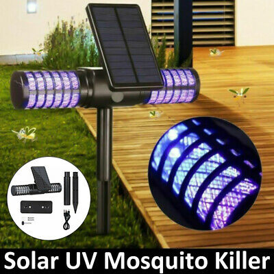 £17.89 • Buy Solar Powered Outdoor UV Mosquito Fly Bug Insect Zapper Killer Trap Lamp -UK