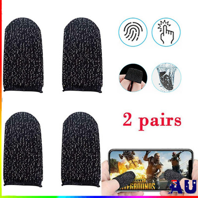 AU7.98 • Buy 4Pcs Finger Sleeve Touch Screen Non-slip Thumb Breathable Sleeve For Mobile Game