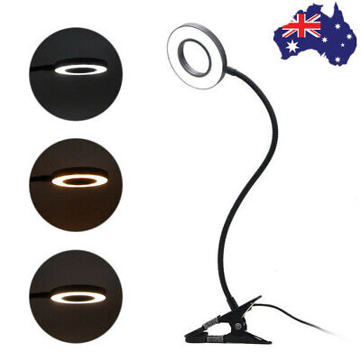 AU18.26 • Buy Clip On LED Desk Lamp Eye Care USB Power Dimmable Table Light Adjustable Clamp