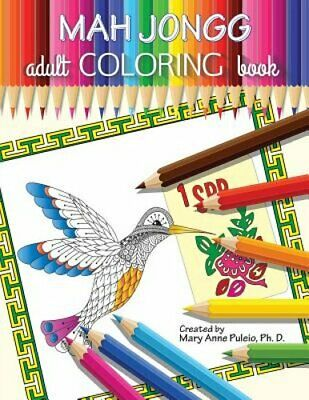 $12.75 • Buy MAH JONGG Adult Coloring Book By Mary Anne Puleio: New