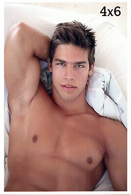 $ CDN11.96 • Buy KRIS EVANS Handsome Face Close-Up Smooth Chest Arm Pits Nipples Gay 4x6 Photo