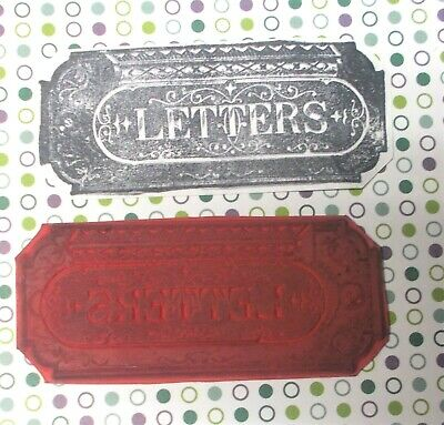 $6.99 • Buy Mail Art Stamps Historical Letters Box Image Rubber Stamp Unmounted Die Journals