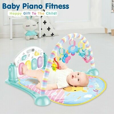 £24.88 • Buy Baby Gym Play Mat Lay & Play Fitness Fun Piano Music Girl Boy With Hanging Toy