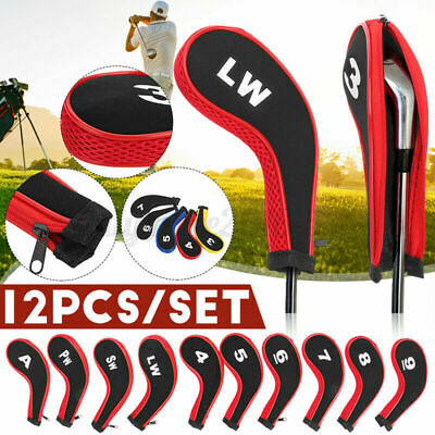 AU21.46 • Buy 12Pcs Golf Head Cover Iron Putter Driver Headcover Protective Set Club Sport