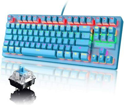 AU37.21 • Buy Gaming Mechanical Keyboard Wired RGB Backlit 87 Keys Blue Switch For PC PS4 Xbox