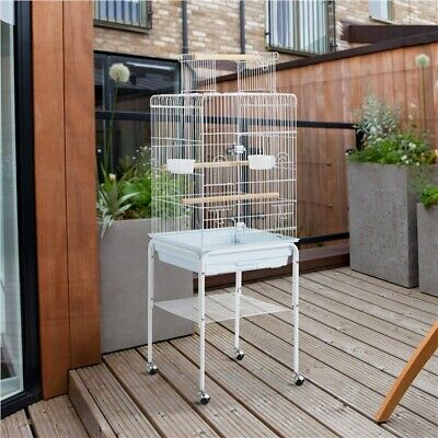 £63.99 • Buy 136cm Play Top Budgie Cage With Stand Metal Bird Cage For Parrot Canary White