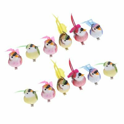 $18.69 • Buy Artificial Foam Birds Magpie 12 Pcs Decoration Life Like Feather Tree Craft Mode