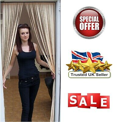 £12.99 • Buy Plastic Strips Insect Control Fly Mosquito Blinds Screen Slat Type Door Curtain