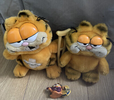 £18 • Buy GARFIELD VINTAGE OLD Plush TOY FIGURE BUNDLE COLLECTION