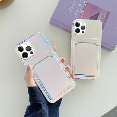 AU11.66 • Buy Shockproof Phone Case With Card Slot For IPhone 12 11 Pro 7 8 Plus XS Max Case