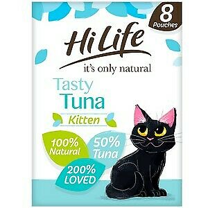 £5.68 • Buy HiLife It's Only Natural Tasty Tuna Kitten Food Pouches - 8 X 70g