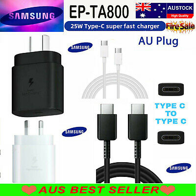 AU15.90 • Buy 25W SUPER FAST Wall Charger For Samsung S21, NOTE 20 ULTRA
