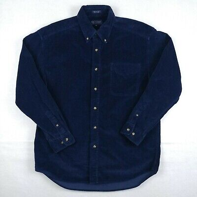 $30.99 • Buy Britches Great Outdoors Mens Medium M Flannel Shirt Blue Corduroy Long Sleeve
