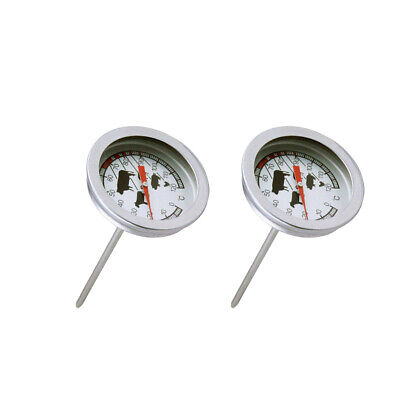 £4.99 • Buy 2Pieces Dial Thermometer Probe-Type Coffee Milk Drinks BBQ Meat