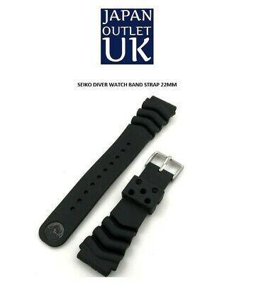 £7.99 • Buy Diver Watch Band Strap FITS SEIKO SKX007 SKX009 22mm Black With Stainless Clasp