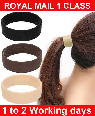 £3.59 • Buy 3 Colors Foldable One Wide Pony Band Clip Wide Pony Hair Band O Hair Tie Band UK