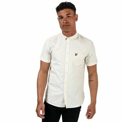 £28.94 • Buy Men's Lyle And Scott Oxford Short Sleeve Regular Fit Cotton Shirt In White