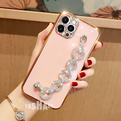 AU13.57 • Buy For IPhone 12 11 Pro XS Max XR 8 Plus Cute Bling Shine Diamond Strap Case Cover