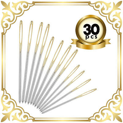 £2.48 • Buy 30 Self Threading Sewing Needles - Assorted Sizes - Easy Thread